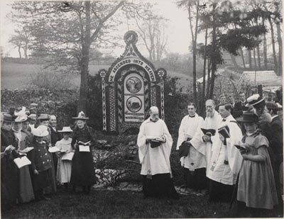 Well Dressing at Tissington, 1899