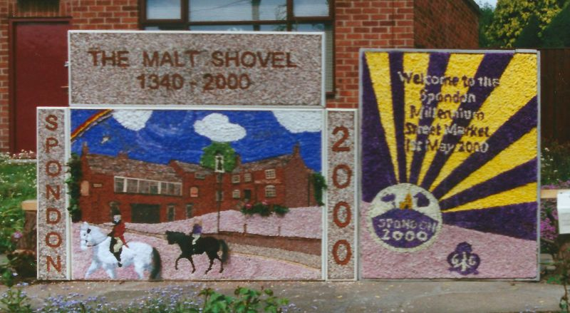 Spondon 2000 - Millennium Street Market Well Dressing