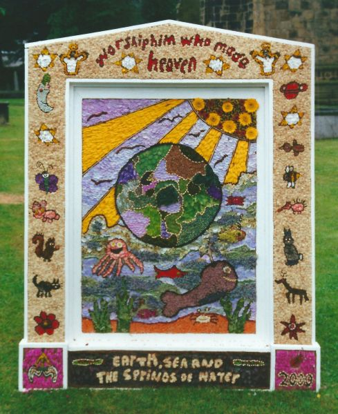 Tideswell 2000 - School Well Dressing