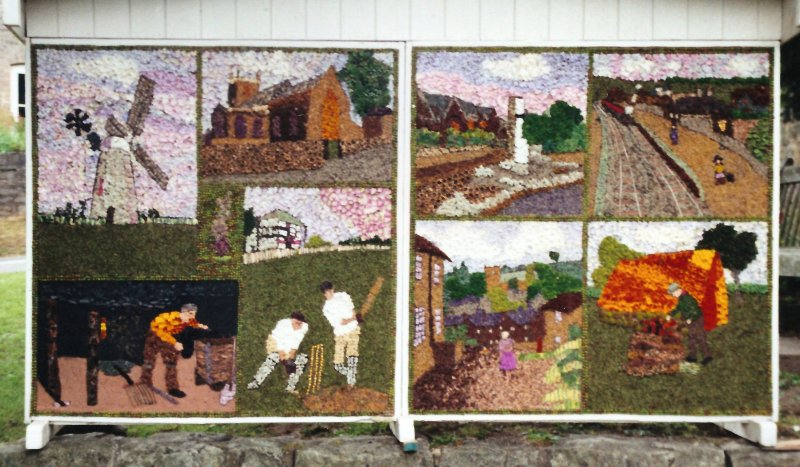 Whitwell 2000 - Village Green Well Dressing