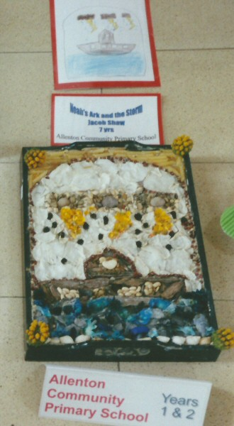 Derby 2001 - Allenton Community Primary School Years 1 & 2 Well Dressing (4)