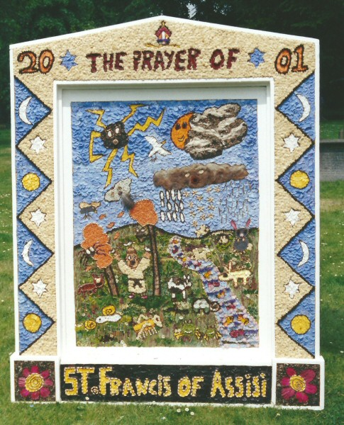 Tideswell 2001 - School Well Dressing