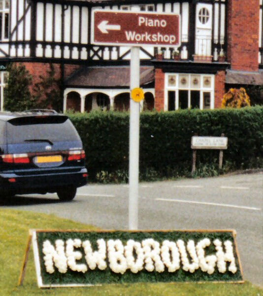 Newborough 2002 - Village Name Board