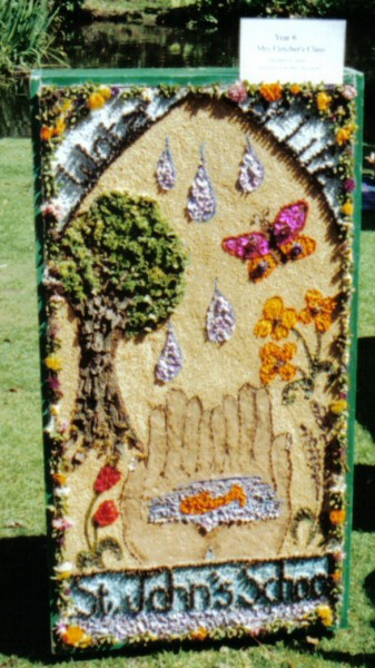 Belper 2002 - St John's CE Primary School Well Dressing (1)