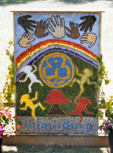 Dronfield Woodhouse 2003 - Brownies & Guides Well Dressing