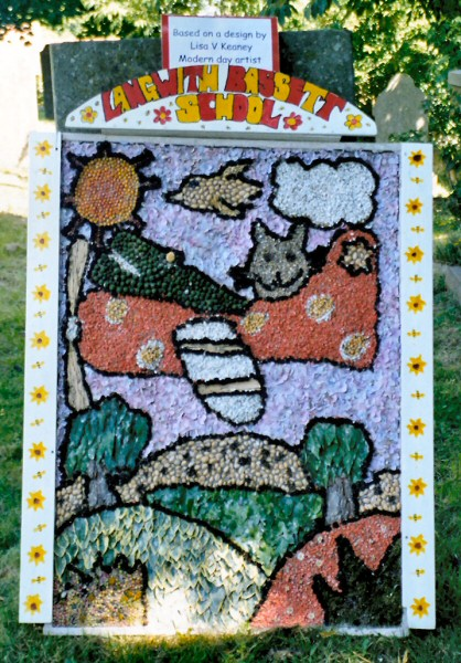 Upper Langwith 2003 - Langwith Bassett Primary School Well Dressing