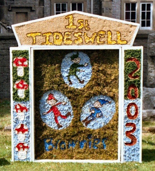 Tideswell 2003 - Brownies Well Dressing