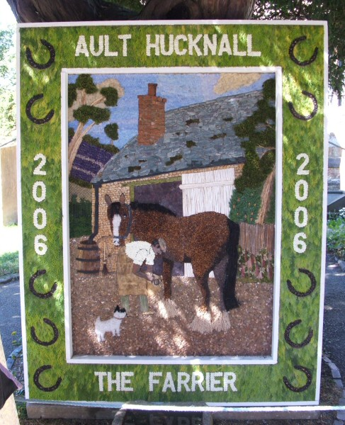 Ault Hucknall 2006 - St John the Baptist Church Well Dressing