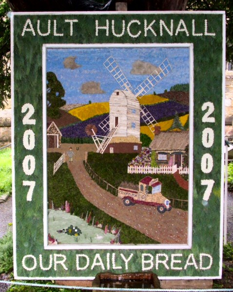 Ault Hucknall 2007 - St John the Baptist Church Well Dressing
