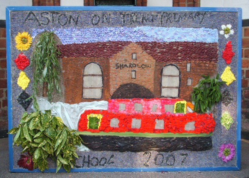 Aston-upon-Trent 2007 - Aston School Well Dressing (1)