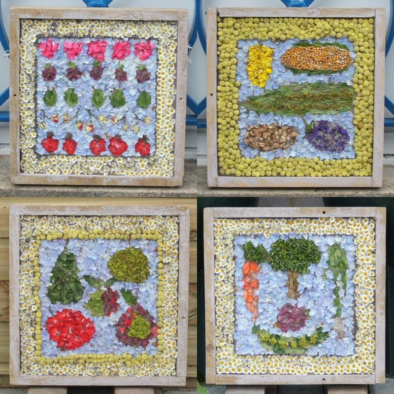 Spire Infant School (Chesterfield) 2007 - Composite image of four small Summer Well Dressings
