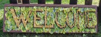 Well Dressing Welcome Board