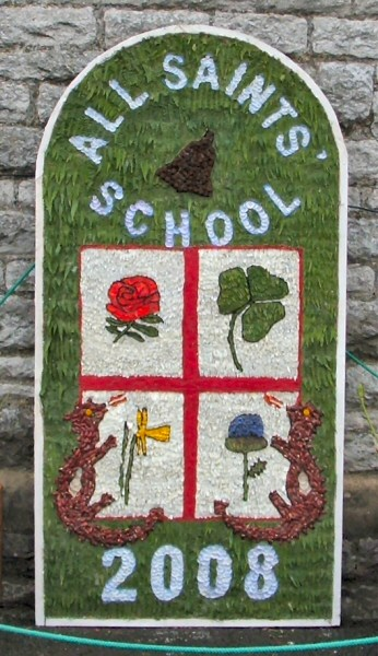 Youlgrave 2008 - All Saints CE Primary School Well Dressing