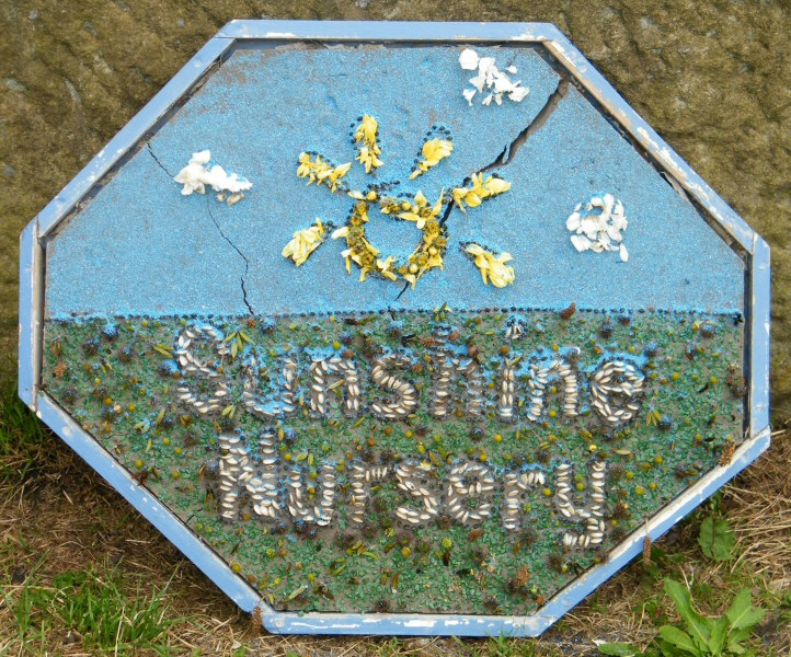 Whaley Bridge 2009 - Additional Well Dressing at Canal Basin (Sunshine Nursery)