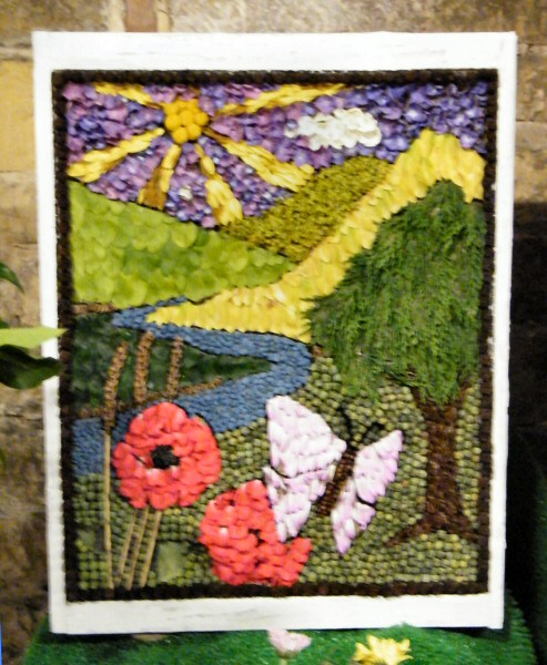 Pleasley 2009 - Flower Festival Well Dressing
