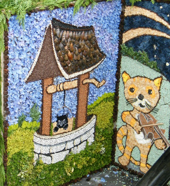 Brown Edge 2009 - Hough Hill Well Dressing (detail)