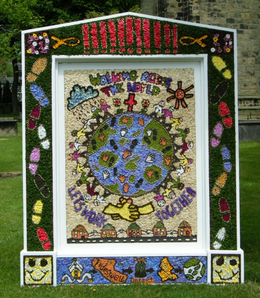 Tideswell 2010 - School Well Dressing
