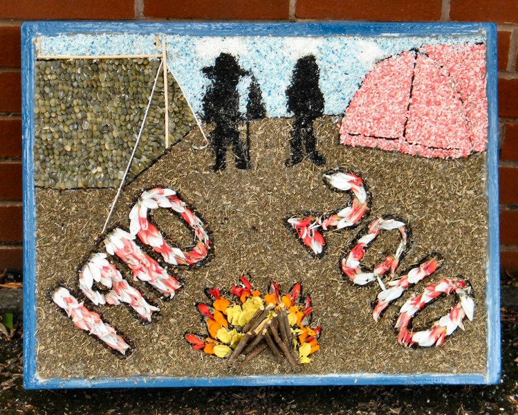 Aston-upon-Trent 2010 - Guides' Well Dressing (1)