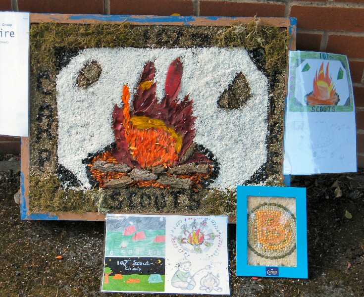 Aston-upon-Trent 2011 - Scouts' & Guides' Well Dressing (1)