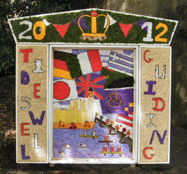 Tideswell 2012 - Guides Well Dressing