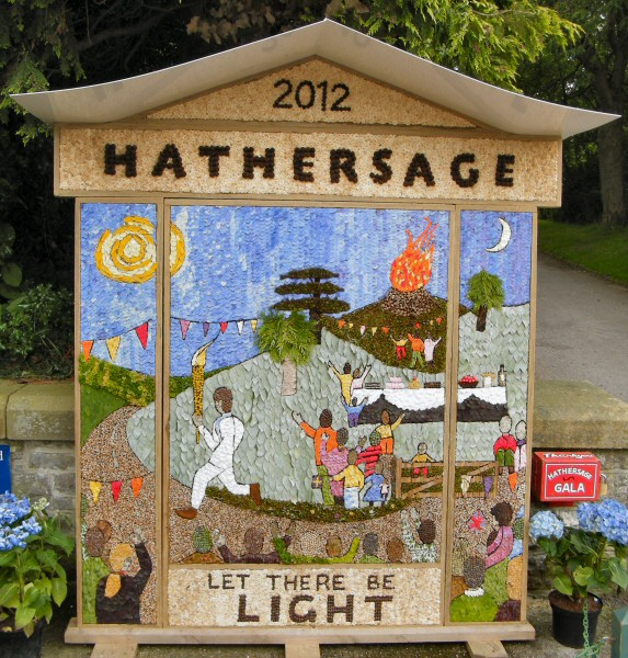 Hathersage 2012 - Methodist Church Well Dressing