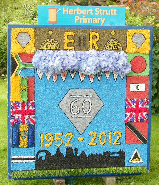 Belper 2012 - Herbert Strutt Primary School Well Dressing (2)