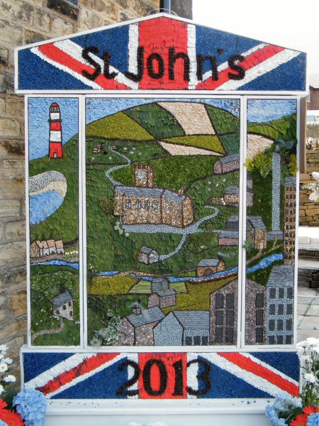 Hayfield 2013 - St John�s Methodist Church Well Dressing