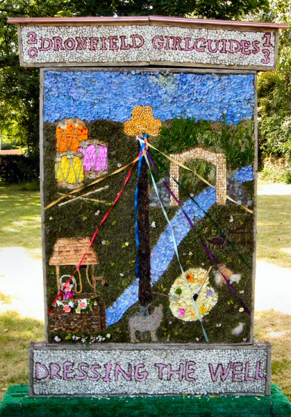 Dronfield Woodhouse 2013 - Rainbows, Brownies & Guides Well Dressing