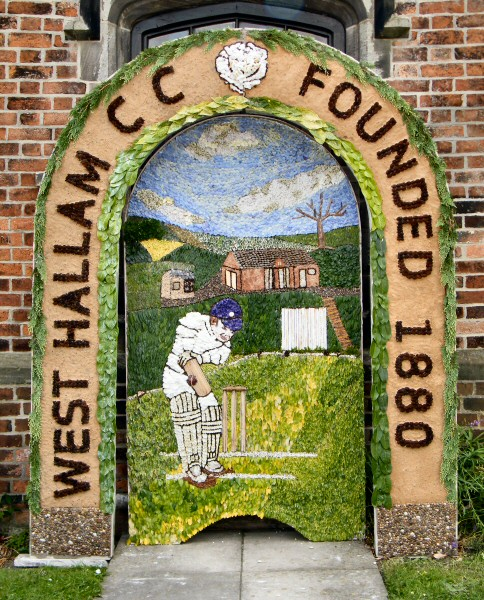 West Hallam 2013 - Friends of West Hallam White Rose Cricket Club Well Dressing