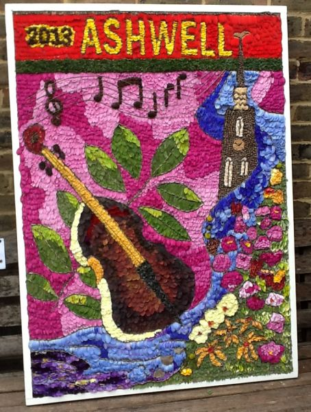 Ashwell (Herts) 2013 - Village Museum Well Dressing