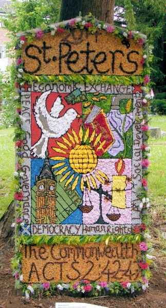 Chellaston 2014 - St Peter's Church Well Dressing