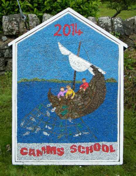 Elmton 2014 - Camm's School Well Dressing