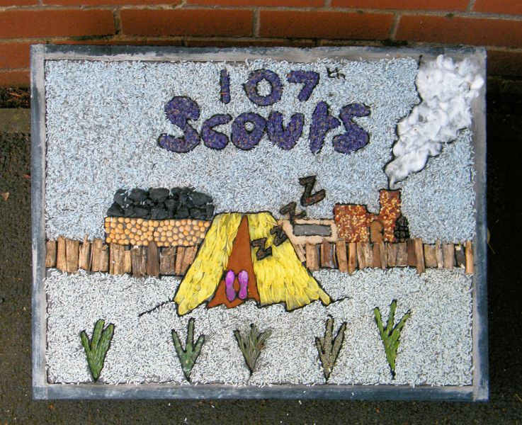 Aston-upon-Trent 2014 - Scouts Well Dressing