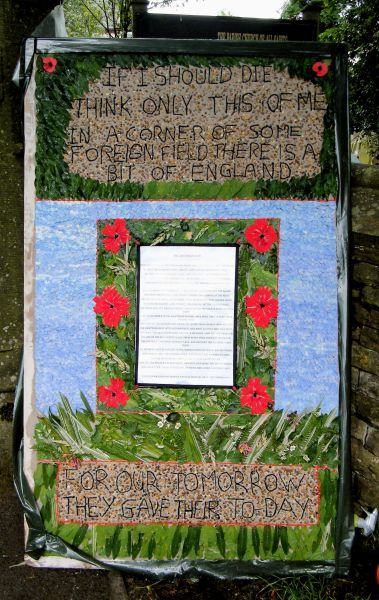 Grindon 2014 - All Saints Church Well Dressing (1)
