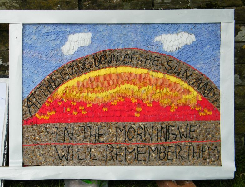 Grindon 2014 - All Saints Church Well Dressing (2)