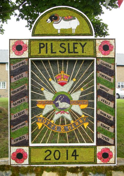 Pilsley (near Bakewell) 2014 - Main Well Dressing