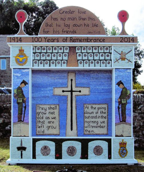 Eyam 2014 - Town End Well Dressing
