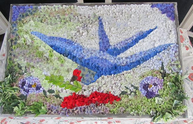 Burngreave Cemetery 2014 - WW I Art Exhibition Well Dressing