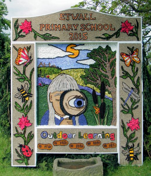 Etwall 2015 - Primary School Well Dressing