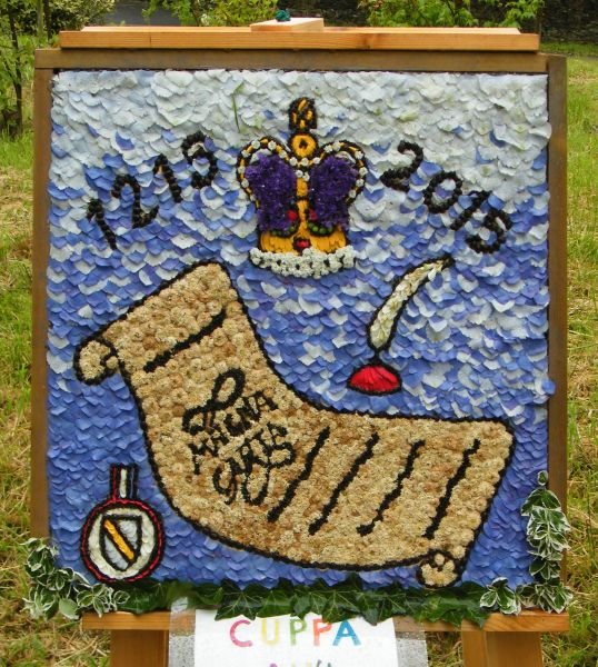 Disley 2015 - Cuppa an'a Chat Well Dressing