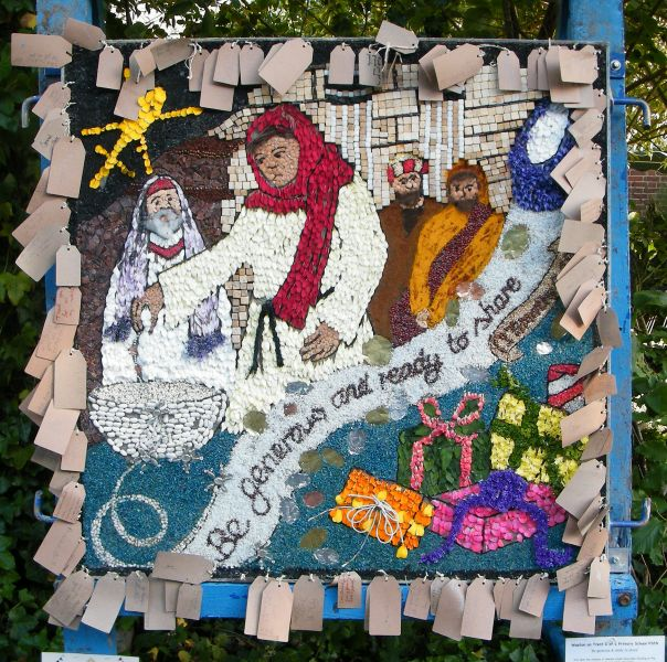 Aston-upon-Trent 2015 - Weston School Well Dressing