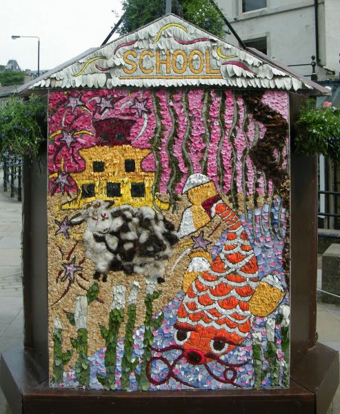 "Buxton 2015 - Spring Gardens Well Dressing — face 3 ""School"""