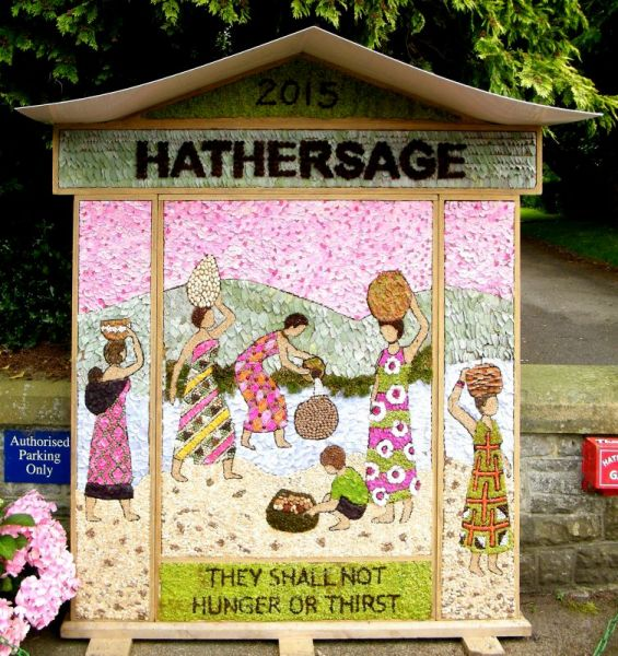 Hathersage 2015 - Methodist Church Well Dressing