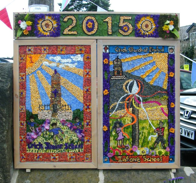 Crich 2015 - Market Place Well Dressing (2)