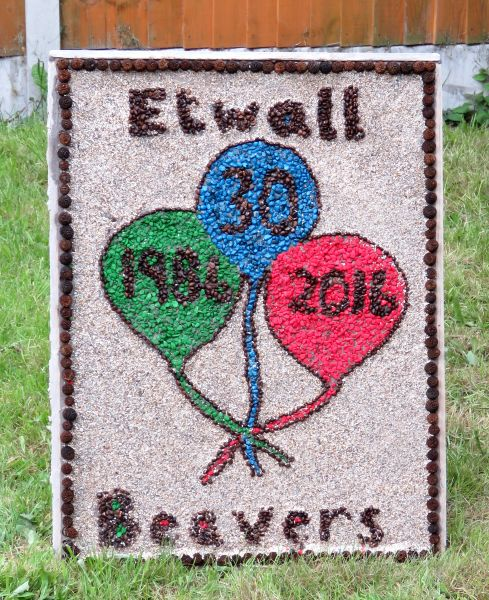 Etwall 2016 - Beavers Well Dressing
