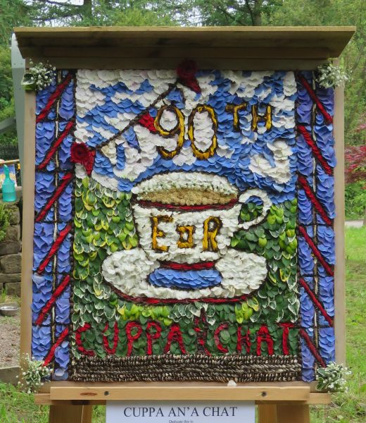 Disley 2016 - Cuppa an' a Chat Well Dressing