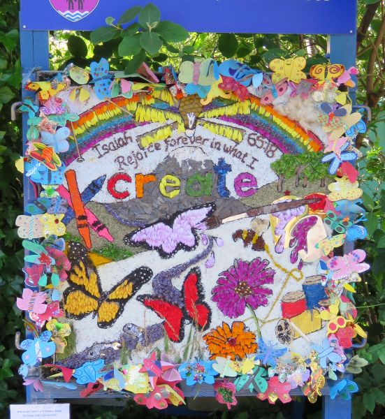 Aston-upon-Trent 2016 - Weston School Well Dressing
