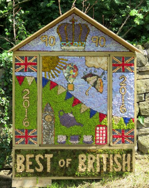 Hathersage 2016 - School Well Dressing