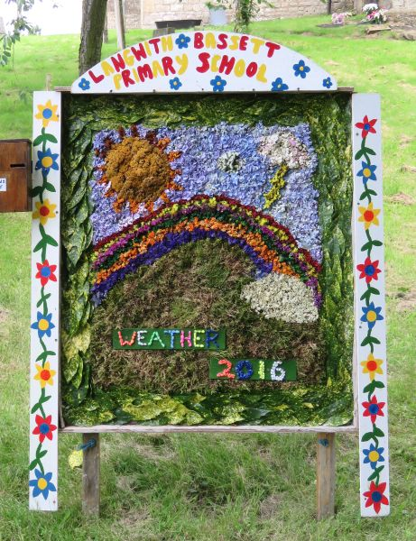 Upper Langwith 2016 - Langwith Bassett School Well Dressing