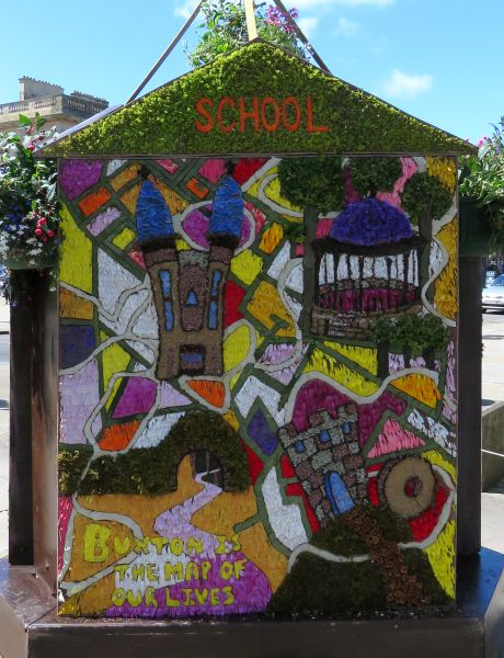"Buxton 2017 - Spring Gardens Well Dressing (""School"")"